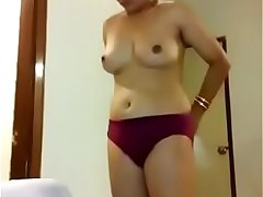 Punjabi desi girl wearing dress after fucking