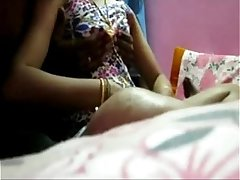 Indian Young Housewife undressed and boob massage by her young devar at bed - Wowmoyback